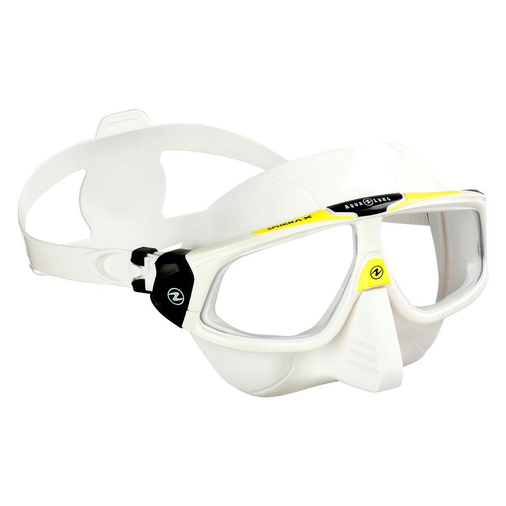 freediving mask sphera White & Yellow