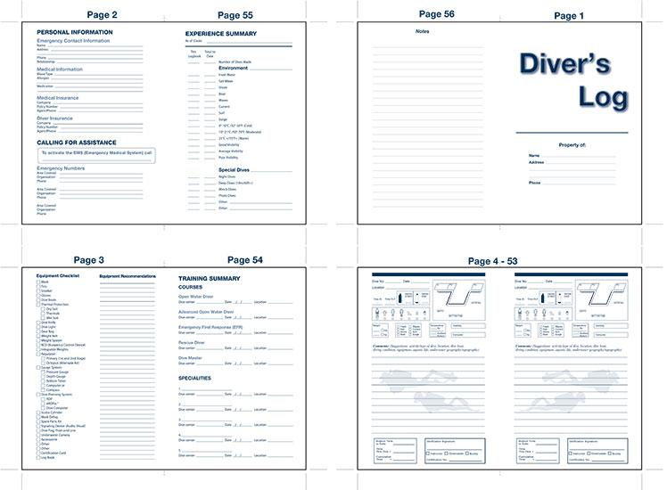 Aqua Master Diving log book