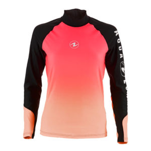 Pink rash guard lady