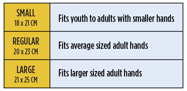 Size guide strength paddles